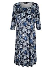 Zamatové šaty s kvetinovým vzorom