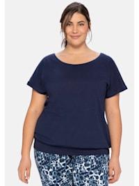 Sheego Shirt mit fixiertem Ärmelaufschlag