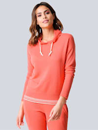 Pull-over avec col montant large au tomber fluide
