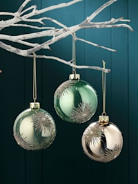 Boules de Noël, 3 pièces