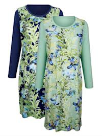 Chemises de nuit par lot de 2 à imprimé estival