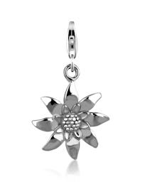 Charm Anhänger Edelweiss Blume Wiesn 925 Sterling Silber