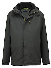 3-in-1-outdoorjas met geïntegreerd fleece vest