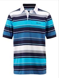 Poloshirt mit Streifendessin rundum