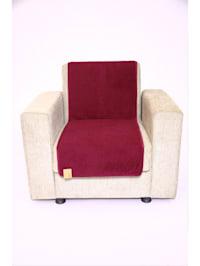Sesselschoner Sitzflächenschoner Wolle ca. 175 x 47 cm bordeaux