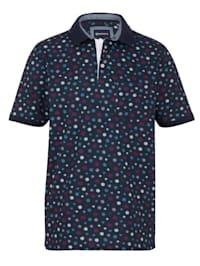 Poloshirt mit modischem Druckdessin