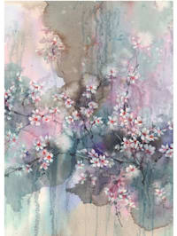 Tapete, Kirschblüten