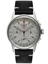 Herrenuhr Chronograph G38 Dessau Lederband schwarz