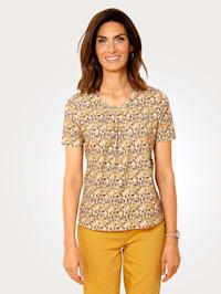 Shirt mit dekorativen Raffungen