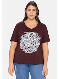 T-Shirt aus Baumwolle, mit Frontdruck