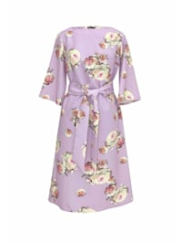 Sommerkleid mit Blumenprint und Gürtel