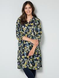 Šaty s farebne harmonickou potlačou