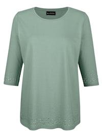 Shirt mit Strassteinen