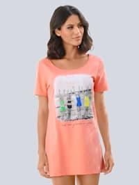 T-shirt de plage en jersey slub