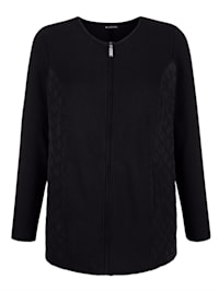 Sweat bunda z módnej zmesi materiálov