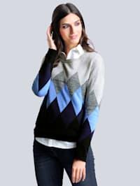Pullover mit Rauten-Muster