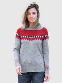 Pullover mit schönem Norwegermuster