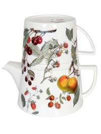 Čajník s vekom a šálkou 'Tea for me - Ovocie'