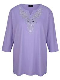 Tričko s dekoratívnymi platničkami