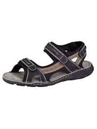 Sandaal met praktische klittenbanden