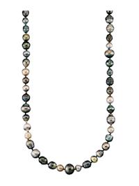 Halsband med odlade Tahitipärlor