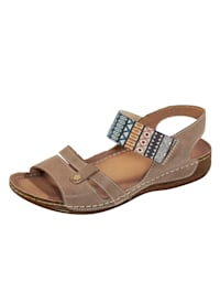 Sandaler med elastiskt band