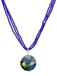 Pendentif en verre de Murano avec collier