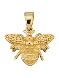 Bienen-Anhänger in Gelbgold 585