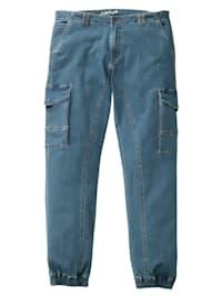 Jeans med resår i linningens sidor