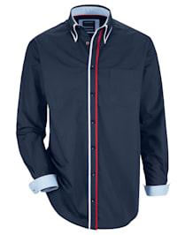 Overhemd met dubbele kraagin button-downstijl