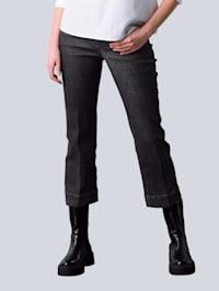 Jean façon jupe-culotte à 5 poches