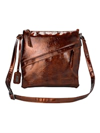 Shoulder bag in a patent leather look