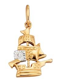Schiff-Anhänger mit 1 Diamant