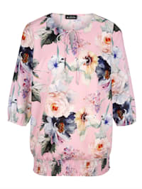 Bluse mit floralem Druckdessin