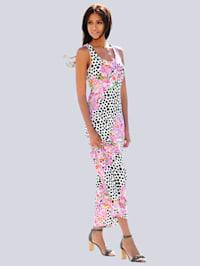 Robe motif floral à pois
