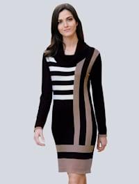Pletené šaty v aktuálním Colourblocking designu
