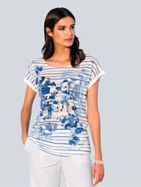 Shirt in schönem Materialmix