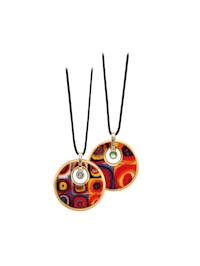 Halskette Wassily Kandinsky - Farbstudie Mit Swarovski(R) Kristallen