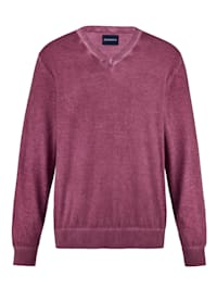 Pullover oil dyed