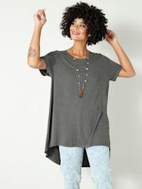 T-shirt long de coupe plus longue au dos