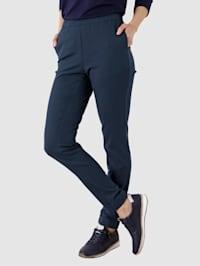 Kalhoty v pohodlném střihu bez zapínání