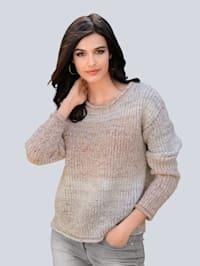 Pullover allover im Degradee Farbverlauf
