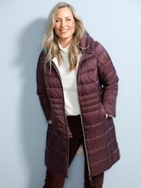 Manteau court avec manches amovibles