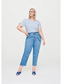 Paperbag-Stretch-Jeans