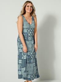 Maxi-jurk met flatterende V-hals