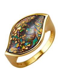 Damesring met opaal