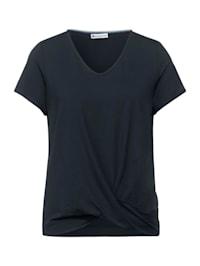T-Shirt mit Knoten Detail