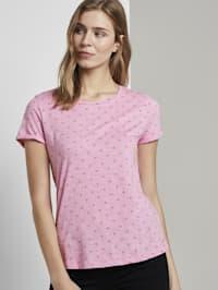 T-Shirt mit Allover Logo-Print