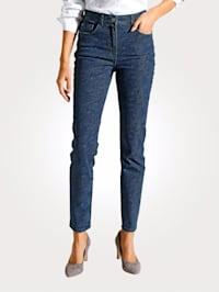 Jeans im Paisley-Dessin