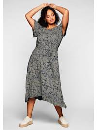 Sheego Kleid mit kurzen Flügelärmeln